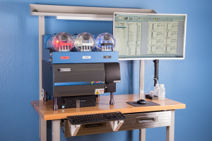 Angled View of Stratedigm StrateBench Table with S1000Exi
