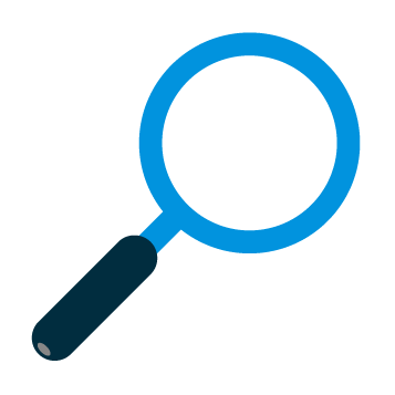 magnifying glass, sensitivity icon