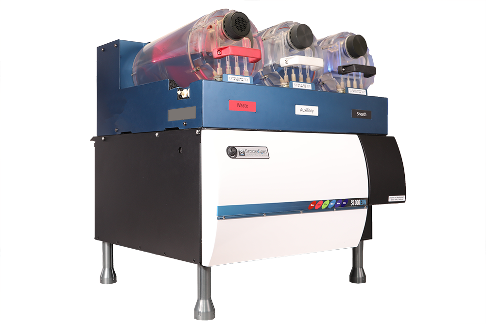 Right Angled View of Stratedigm S1000EXi 4 Laser, 18 Color Flow Cytometer