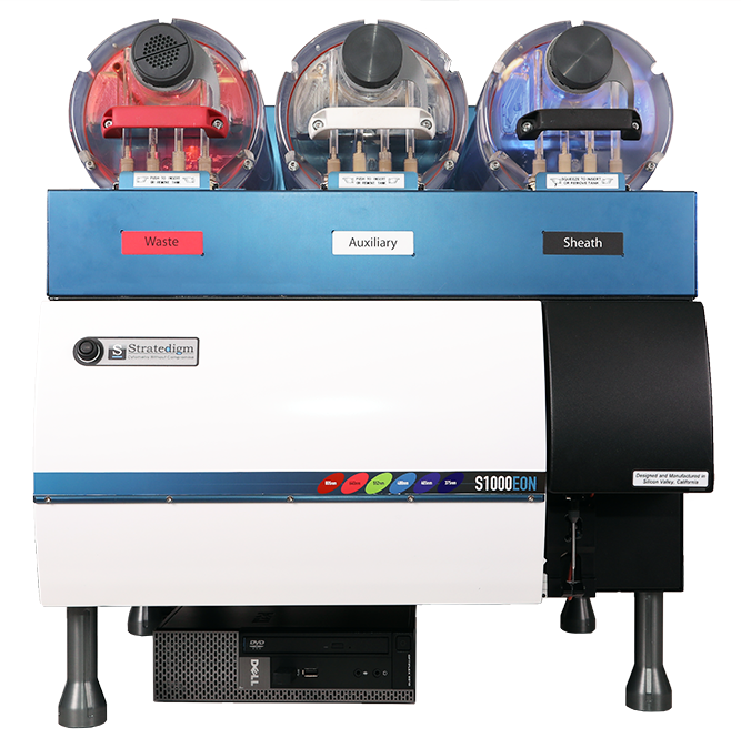 Front View of Stratedigm S1000EXi 4 Laser, 18 Color Flow Cytometer